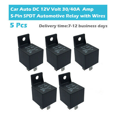 $ CDN17 • Buy 5Pcs Car Trunk Continuous Relay 30A 40A 12V Volt 5 Pin SPDT On/Off Auto Switch