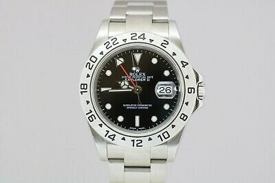 "$ CDN9231.68 • Buy Rolex Explorer II 16570 T ""No Holes"" Black Dial Watch Z Series With Papers"