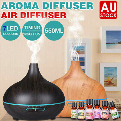 AU14.40 • Buy 550ml LED Air Humidifier Purifier Essential Oil Aroma Diffuser Aromatherapy Lamp