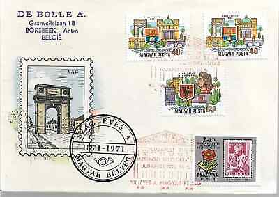 HUNGARY FIRST DAY COVER Magyar Belyeg 1871-1971   Ref 972  • 1.45£