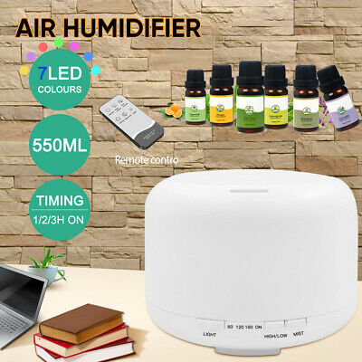 AU25.59 • Buy 300/ 500ml Essential Oil Aroma Diffuser LED Ultrasonic Air Mist Aromatherapy