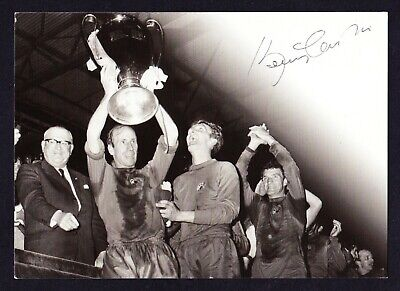 MANCHESTER UNITED Bobby Charlton Hand Signed Autograph Postcard European Cup • 29.99£