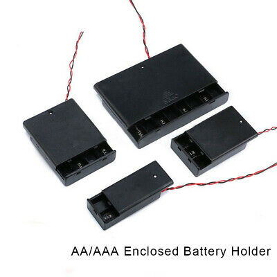 AU13.89 • Buy AA/AAA X 1/5/10PCS Enclosed Battery Holder Storage Case Box With Switch Wires