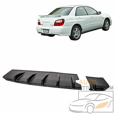 $69.99 • Buy For 2002-2003 Subaru Impreza WRX STi Sedan JDM Rear Bumper Lip Diffuser Splitter