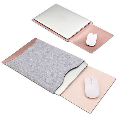 AU22.99 • Buy Felt Sleeve Laptop Case + Mat Mouse Cover For Apple MacBook Air Pro 11  13  15