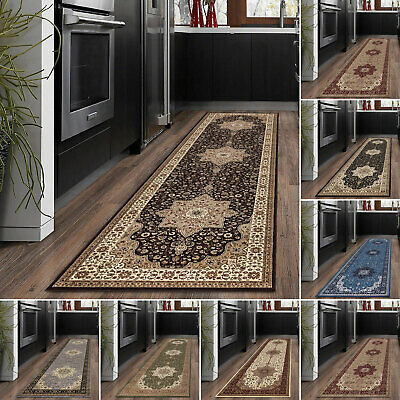 Traditional Kitchen Floor Carpet Runner Rug Modern Non Slip Hall Runner Mat Rug • 15.99£