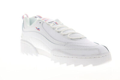 AU60.99 • Buy Reebok Rivyx Ripple DV6619 Mens White Leather Lace Up Low Top Sneakers Shoes