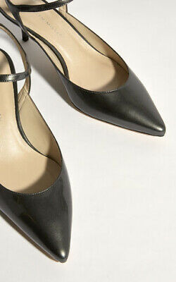Karen Millen Pewter Leather Courts Shoes Kitten Heels Size 5 38 Rrp £135 New!!! • 69.99£