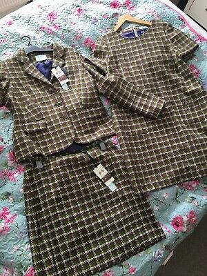 Dickens And Jones 3 Peice Tweed Set, Skirt And Jacket Size 16, Dress Size 18. • 70£