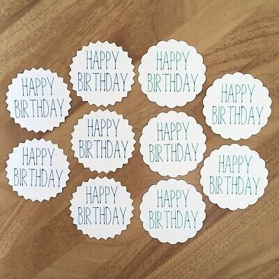 10x Happy Birthday Card Toppers Papercraft Scrapbooking • 1.99£