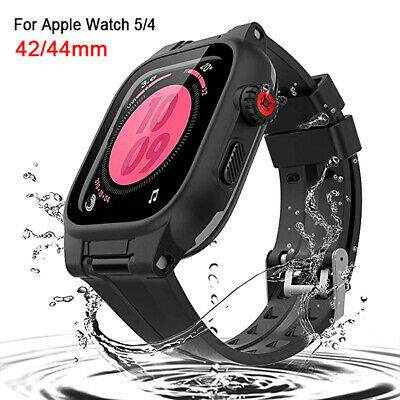 $ CDN27.46 • Buy Waterproof Case Apple Watch Series 5/4 With Screen Protector IWatch Band 42/44mm