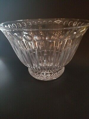 $39.99 • Buy Gorgeous Large Shannon Thumbprint Crystal Bowl *Mint