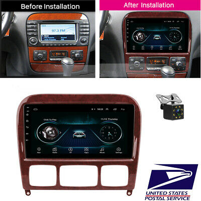 $212.30 • Buy 9  Android 8.1 Car Stereo Radio + Camera For Mercedes Benz S Class W220 S280 320