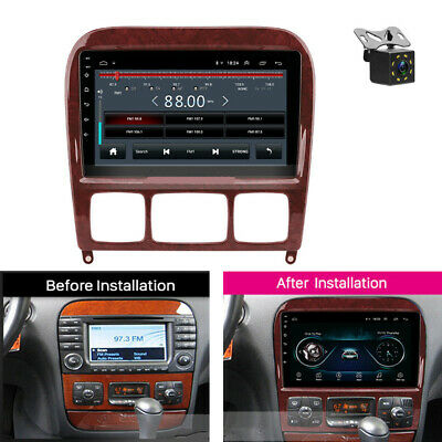 $212.30 • Buy For Mercedes Benz S Class W220 S280 S320 Car Radio 9 Inch Android 8.1 + Camera