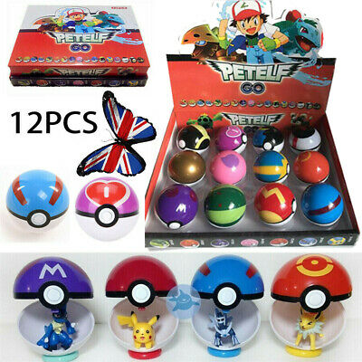 12Pcs Pokemon Ball Set Pokeball GO Action Figures For Kids Toys Child Gift UK • 9.87£