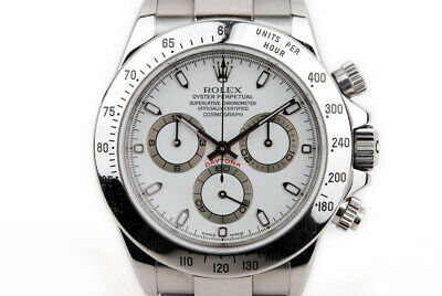 $ CDN32334.67 • Buy EX+ Rolex Daytona 116520 40MM Ivory Dial Stainless Steel Mens Watch P 2000