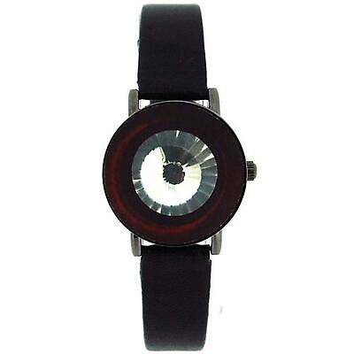Anaii Pink Instinct Crystal Flip Open Black Strap Ladies Fashion Watch AP526 • 25.95£