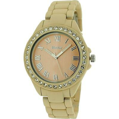 £25.95 • Buy Henley Glamour Ladies Diamante Bezel Beige Soft Touch  Rubberised WatchH07202.12