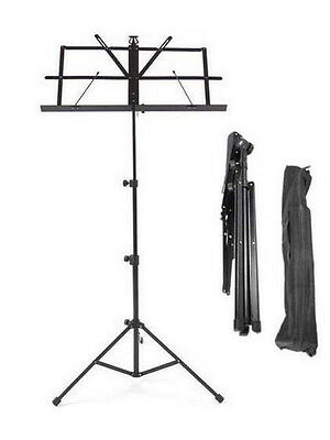 £6.90 • Buy Music Stand Sheet Holder Metal Adjustable Folding Portable With Bag Carry Case