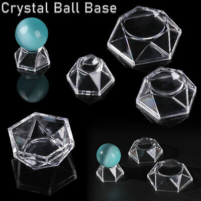Crystal Ball Base Acrylic Display Stand Transparent Pedestal Home Decoration! • 3.41£
