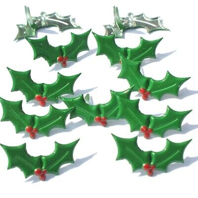 $2.25 • Buy Holly Brads ** 8 Pcs ** Green