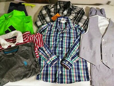 AU23.09 • Buy Lot Of 8 Spring Boys Clothes Size 5 Easter Casual Set Adidas Izod Tommy Hilfiger