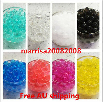 AU1.60 • Buy Water Crystal Soil  Beads Gel Balls Orbeez Vase Filler Wedding Party Decoration