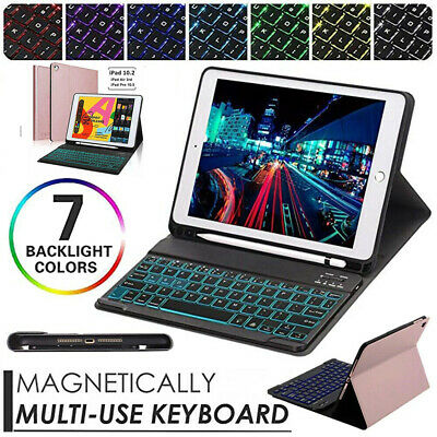 AU45.99 • Buy Bluetooth Keyboard With Magnetic Case Cover For IPad 5/6th Gen 7/8th Air 1/Air 2