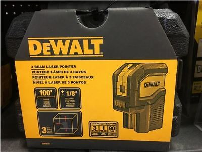 $102.99 • Buy NEW DEWALT DW08302 100-Feet Self-Leveling 3 Beam Laser Pointer With Batteries