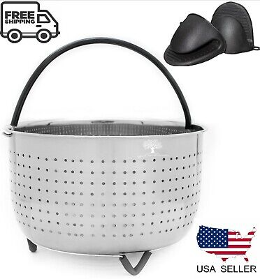 $20.95 • Buy 6 QT Steamer Basket For 6 -8QT Instapot, Foodi + 2 Mitts Instant Pot Accessories