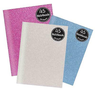 Hardback Glitter A4 A5 A6 Cover Bright Notebook Student School Pad Ruled  • 1.79£