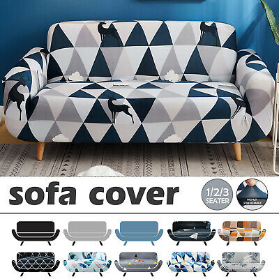 AU26.90 • Buy 1 2 3 Seater Stretch Sofa Cover Lounge Couch Recliner Chair Slipcovers Protector