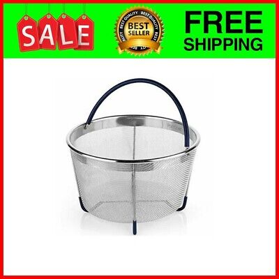 $18.88 • Buy Steamer Basket Fits Instant Pot 6, 8 Quart And Other, IP Stainless Steel Insert