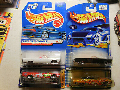 $20.95 • Buy Hot Wheels 1964 LINCOLN CONTINENTAL CONVERTIBLE LOT WHITE BLACK TRIX DRAGON RARE