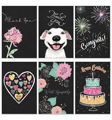 $14.99 • Buy Cavepop Chalkboard All Occasion Greeting Card With Envelopes - 36 Assortment