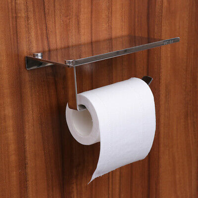 AU13.99 • Buy Toilet Paper Roll Holder Stainless Steel Bathroom Phone Tissue Holder Wall Mount