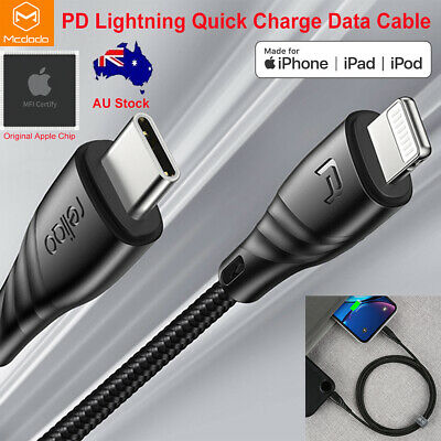 AU22.19 • Buy Mcdodo Apple MFI Certified Type-C PD Lightning Quick Charge Cable Fr IPhone IPad