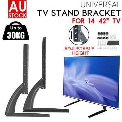 AU28.46 • Buy 14-70  Table Top Desktop Mount Stand Bracket Monitor LCD LED Plasma TV Universal
