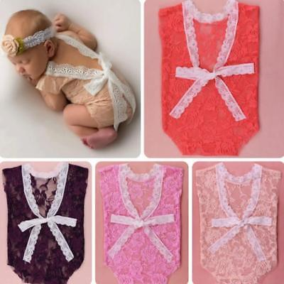 £3.14 • Buy Popular Baby Baby Clothes Retro Soft Mild Lace Protection Photography Props YG
