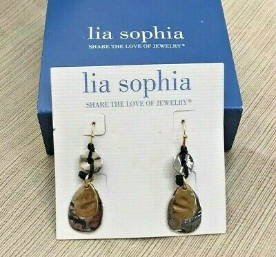 $ CDN12.09 • Buy New! Lia Sophia  Multitude  Gold & Silver Tone Dangle Earrings