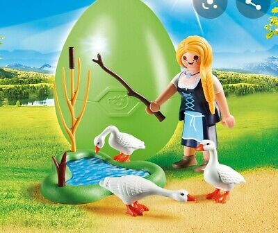 Playmobil 70083 Easter Egg Maiden With Geese • 4.95£