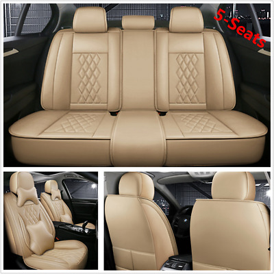 $ CDN192.31 • Buy Car Seat Covers 5D Surround Full Set For 5-Seats Car SUV Interior Accessories