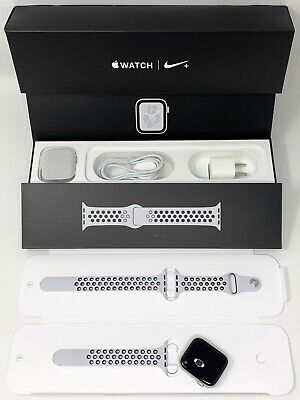 $ CDN506.74 • Buy Apple MTXC2LL/A Watch Nike+ Series 4 GPS + Cellular, 44mm, Silver Aluminum Case