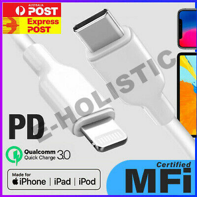 AU15.95 • Buy MFi Certified PD Cable USB C To Lightning Charging Cable For Apple IPhone 11 Max