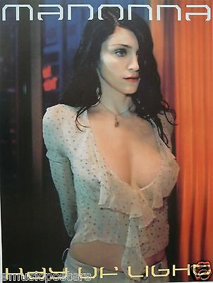 $15.99 • Buy MADONNA  RAY OF LIGHT  U.S. PROMO POSTER-Dark Hair, Wearing A Sexy, Low-Cut Top!