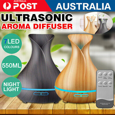 AU33.99 • Buy Aroma Aromatherapy Diffuser LED Essential Oil Ultrasonic Air Humidifier Purifier