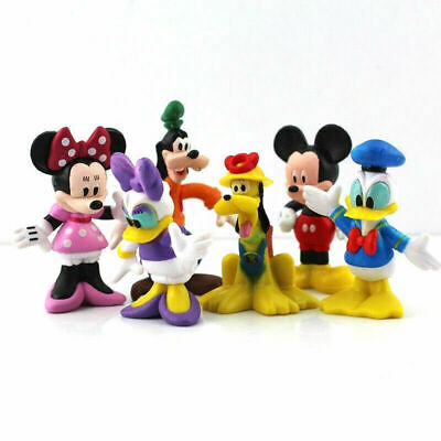 Mickey Mouse Set Of 6 Figures Toy Cake Toppers Minnie Donald Duck Daisy Goofy • 6.88£