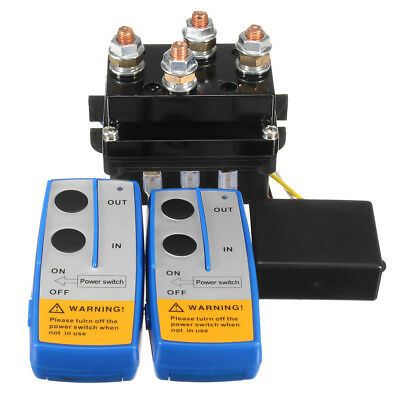 AU55.70 • Buy 12V 500A HD Contactor Winch Control Solenoid Relay+Twin Wireless Remote+Cover