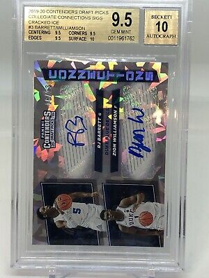 $2000 • Buy 2019-20 Contenders Draft Zion Williamson RJ Barrett Dual Auto 16/23! BGS 9.5!