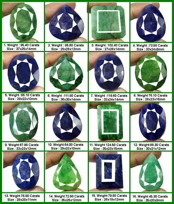 AU29.87 • Buy Selection Of 16 Large Pieces Of Natural Emerald & Sapphire Gemstones